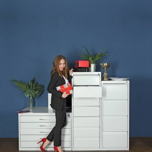 Metal open file cabinets